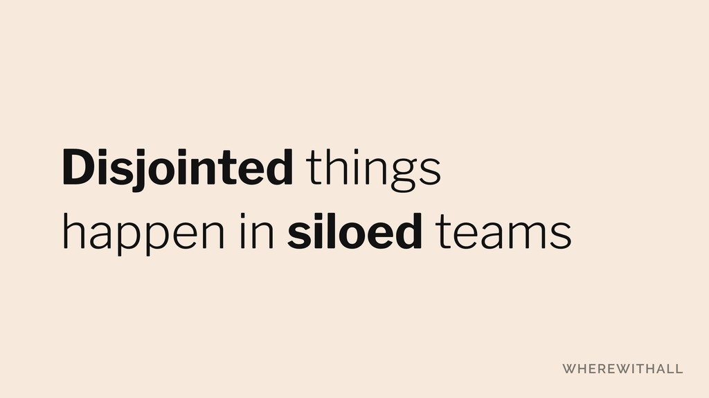 Disjointed things 