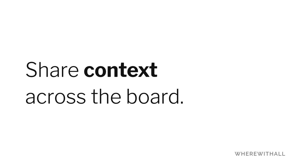 Share context 