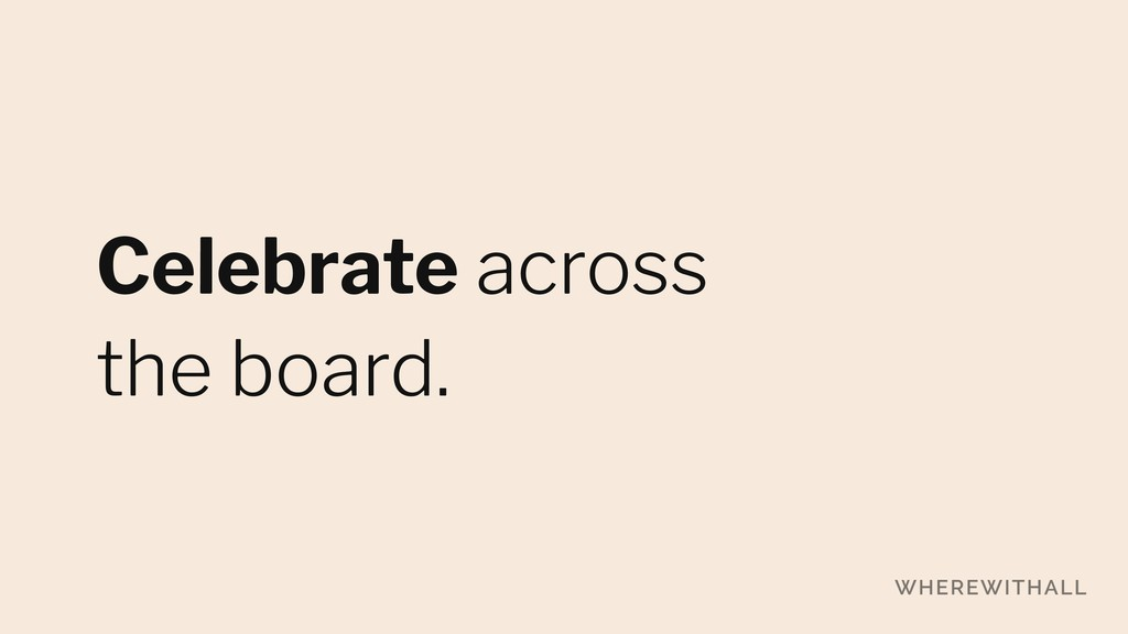 Celebrate across 