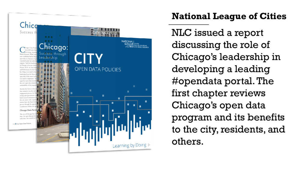NLC issued a report discussing the role of Chic...