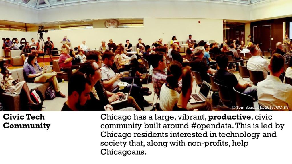 Civic Tech Community Chicago has a large, vibra...