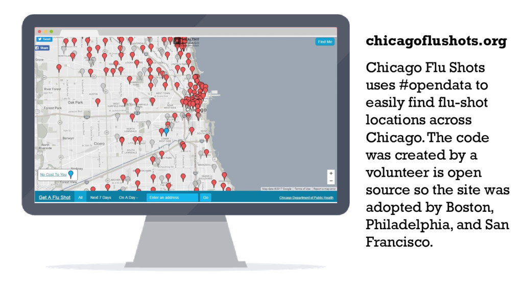 Chicago Flu Shots uses #opendata to easily find...