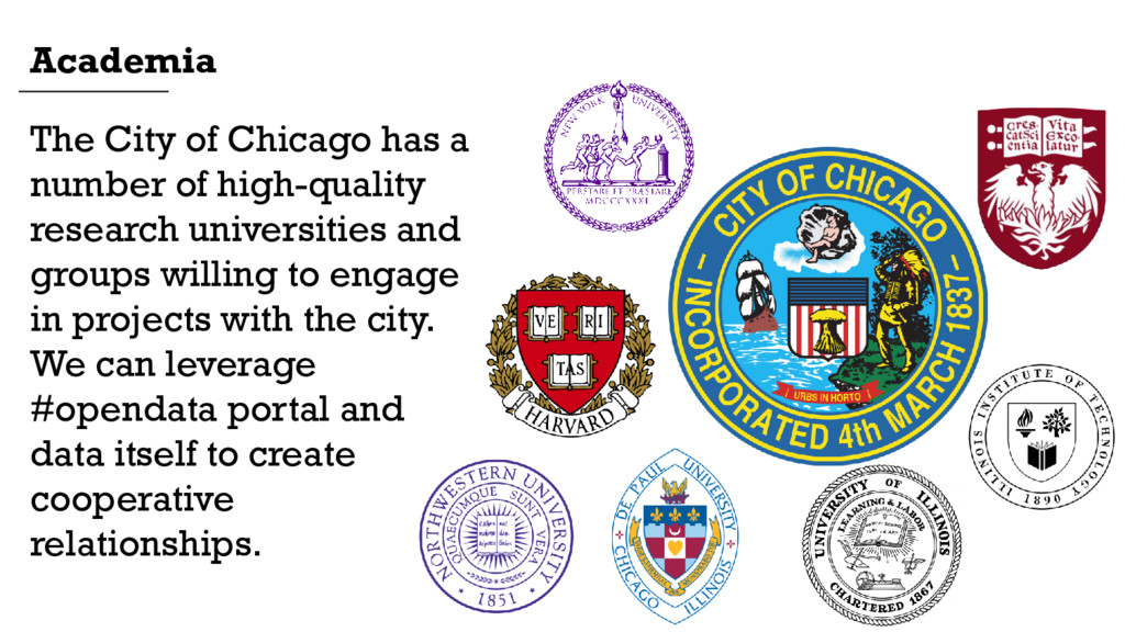 The City of Chicago has a number of high-qualit...