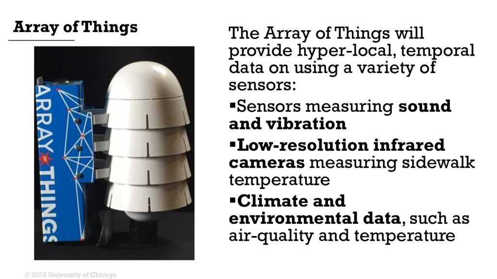 The Array of Things will provide hyper-local, t...