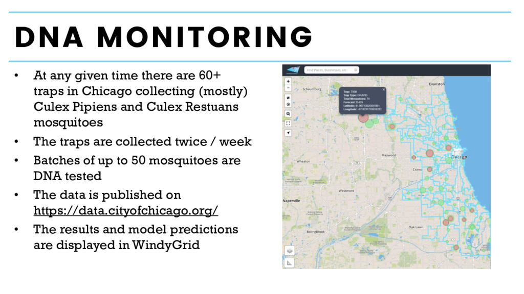 DNA MONITORING • At any given time there are 60...