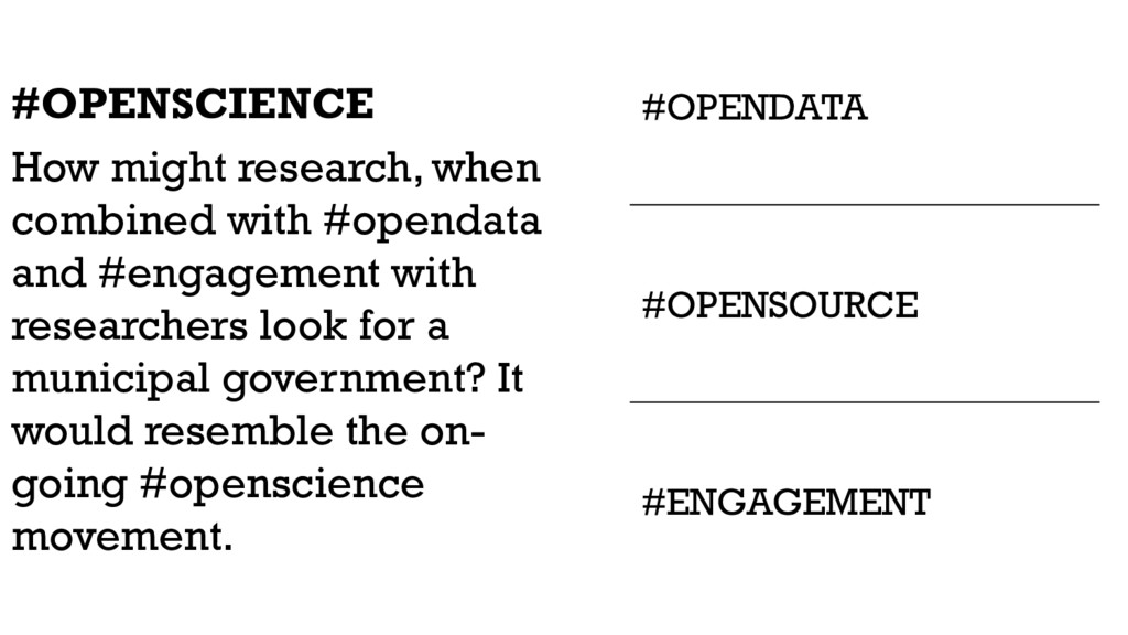 #OPENDATA #OPENSCIENCE How might research, when...