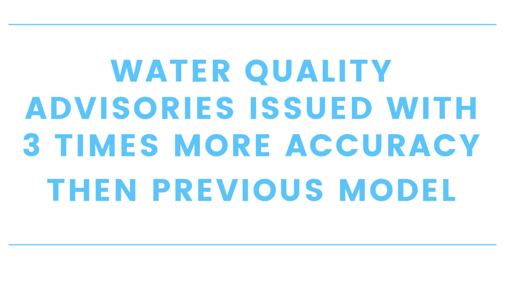 WATER QUALITY ADVISORIES ISSUED WITH 3 TIMES MO...