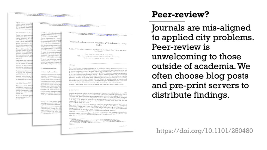 Journals are mis-aligned to applied city proble...