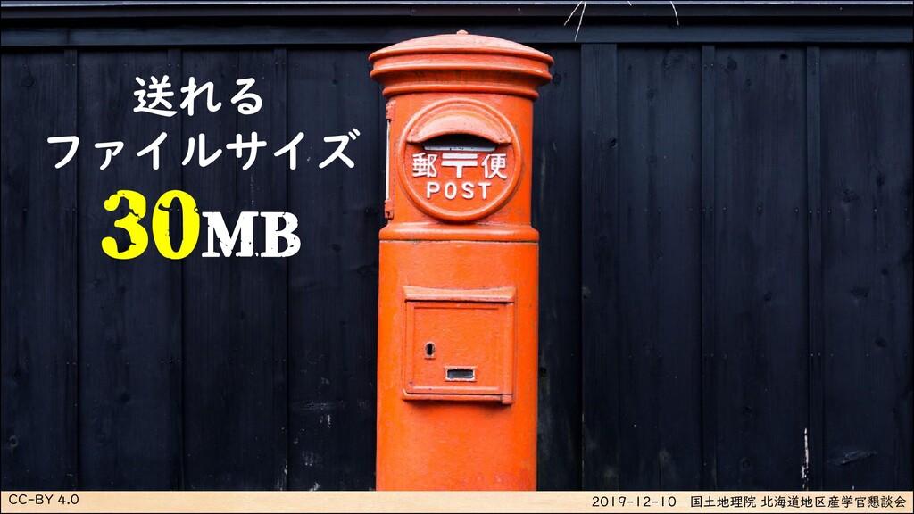 CC-BY 4.0 2019-12-10 国土地理院 北海道地区産学官懇談会 送れる ファイル...