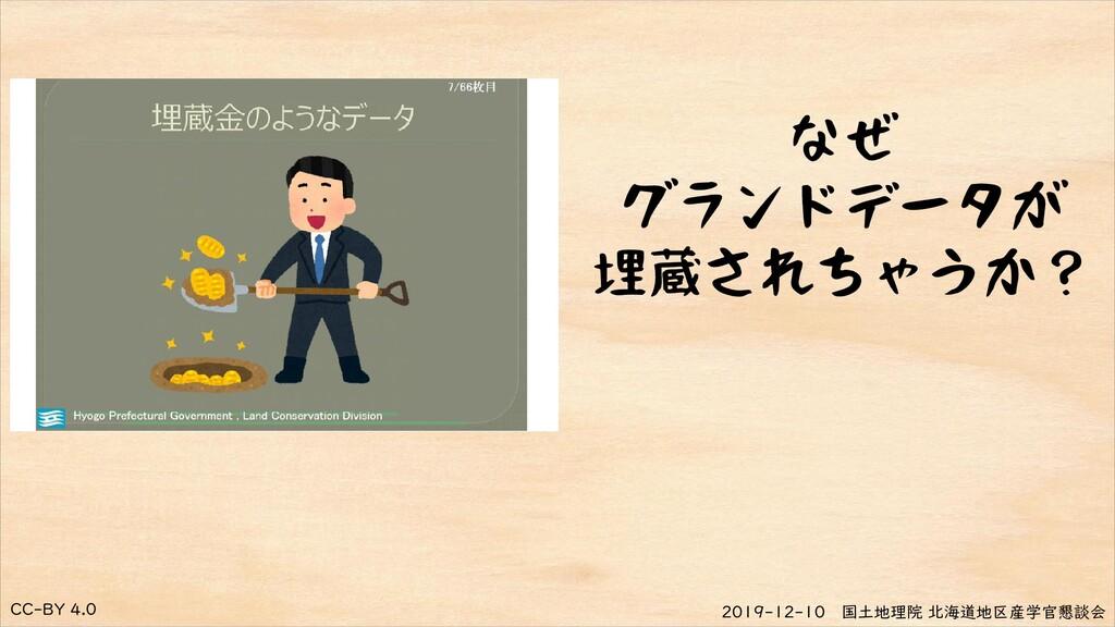CC-BY 4.0 2019-12-10 国土地理院 北海道地区産学官懇談会 なぜ グランドデ...