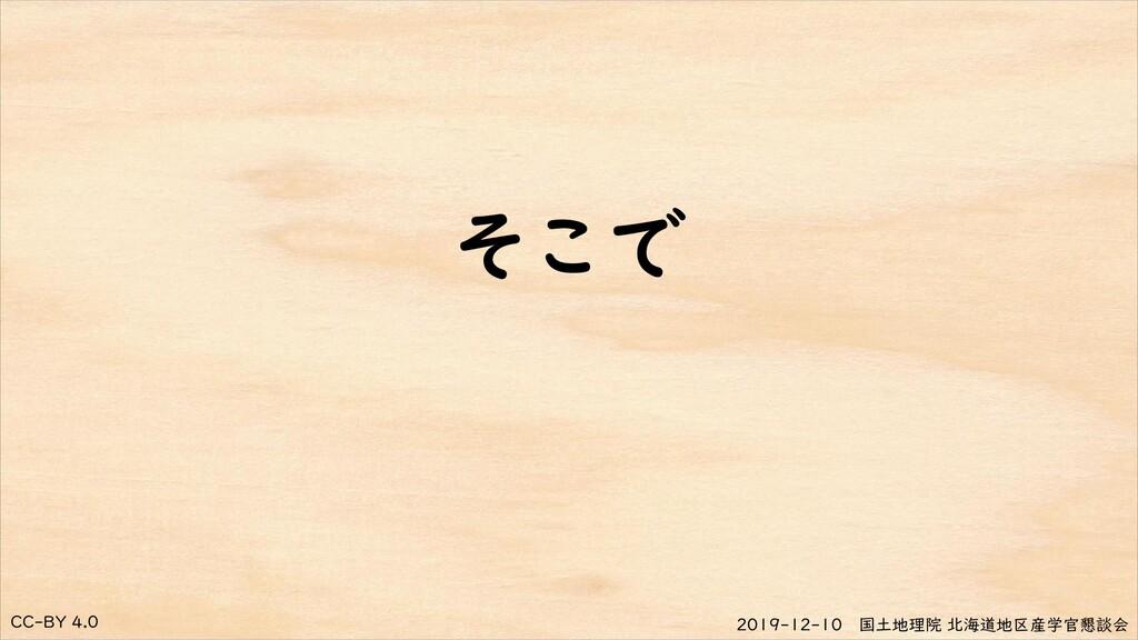 CC-BY 4.0 2019-12-10 国土地理院 北海道地区産学官懇談会 そこで