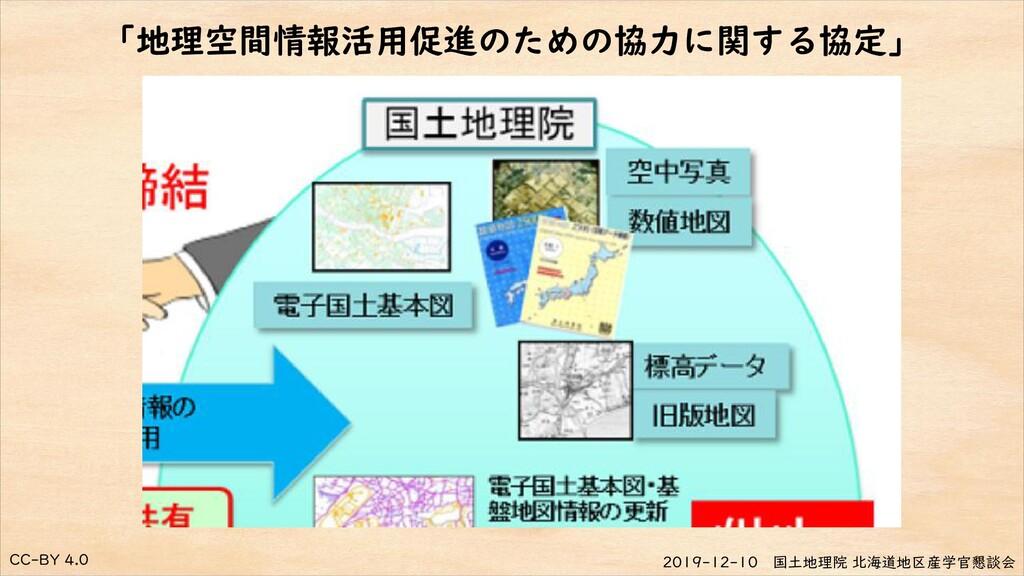 CC-BY 4.0 2019-12-10 国土地理院 北海道地区産学官懇談会 「地理空間情報活...