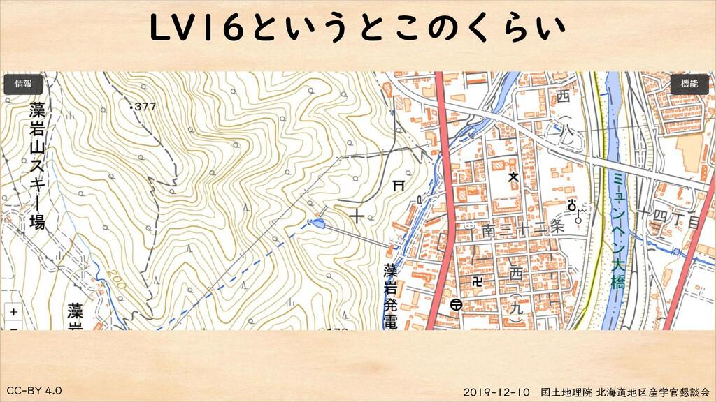 CC-BY 4.0 2019-12-10 国土地理院 北海道地区産学官懇談会 LV16というと...