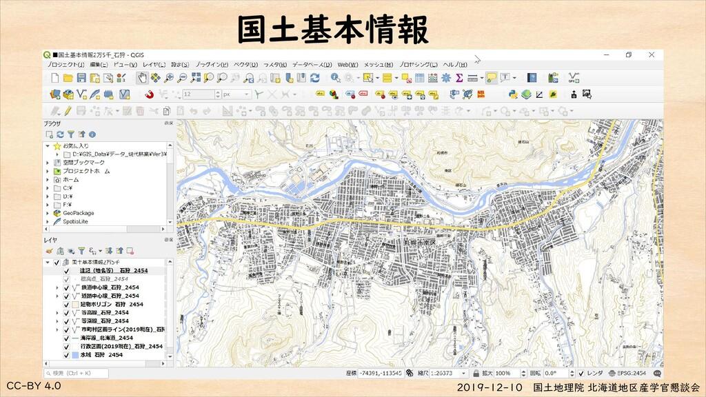 CC-BY 4.0 2019-12-10 国土地理院 北海道地区産学官懇談会 国土基本情報
