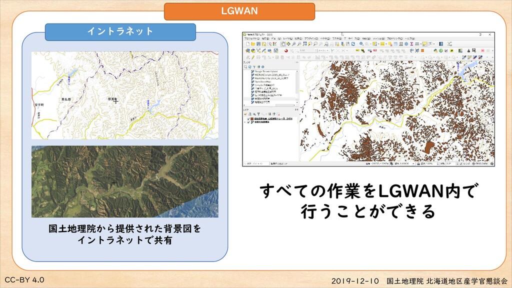 CC-BY 4.0 2019-12-10 国土地理院 北海道地区産学官懇談会 LGWAN イン...