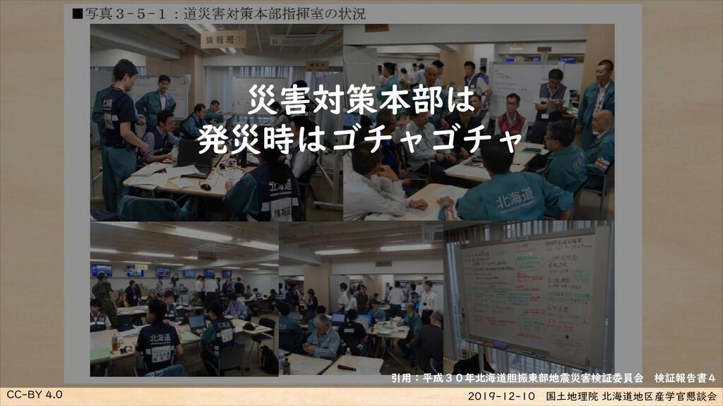 CC-BY 4.0 2019-12-10 国土地理院 北海道地区産学官懇談会 災害対策本部は ...