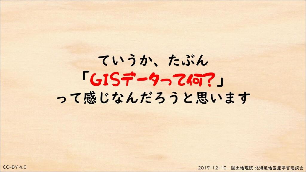 CC-BY 4.0 2019-12-10 国土地理院 北海道地区産学官懇談会 ていうか、たぶん...