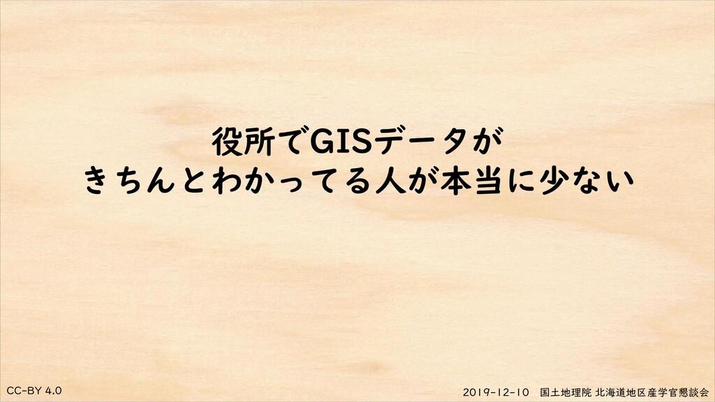 CC-BY 4.0 2019-12-10 国土地理院 北海道地区産学官懇談会 役所でGISデー...