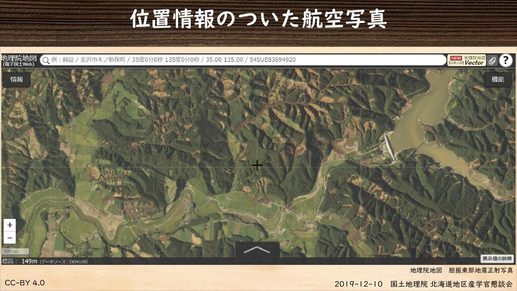 CC-BY 4.0 2019-12-10 国土地理院 北海道地区産学官懇談会 位置情報のついた...
