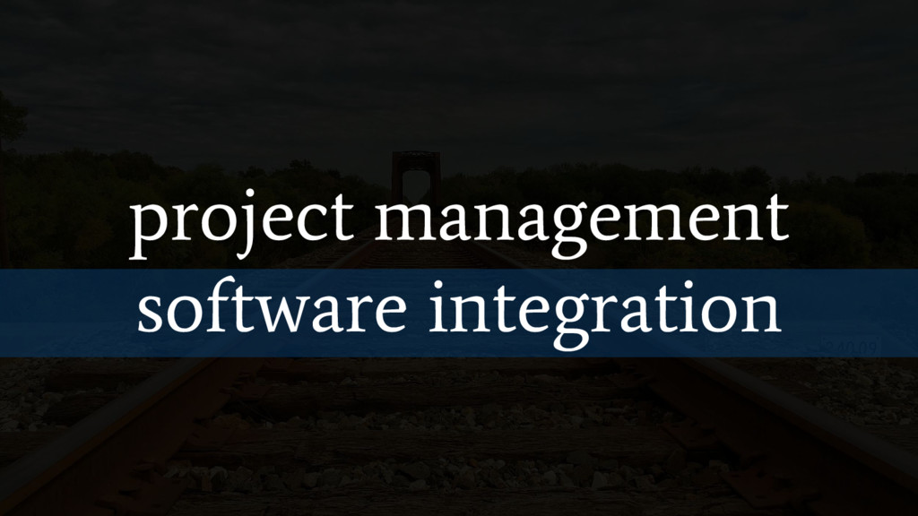 project management software integration