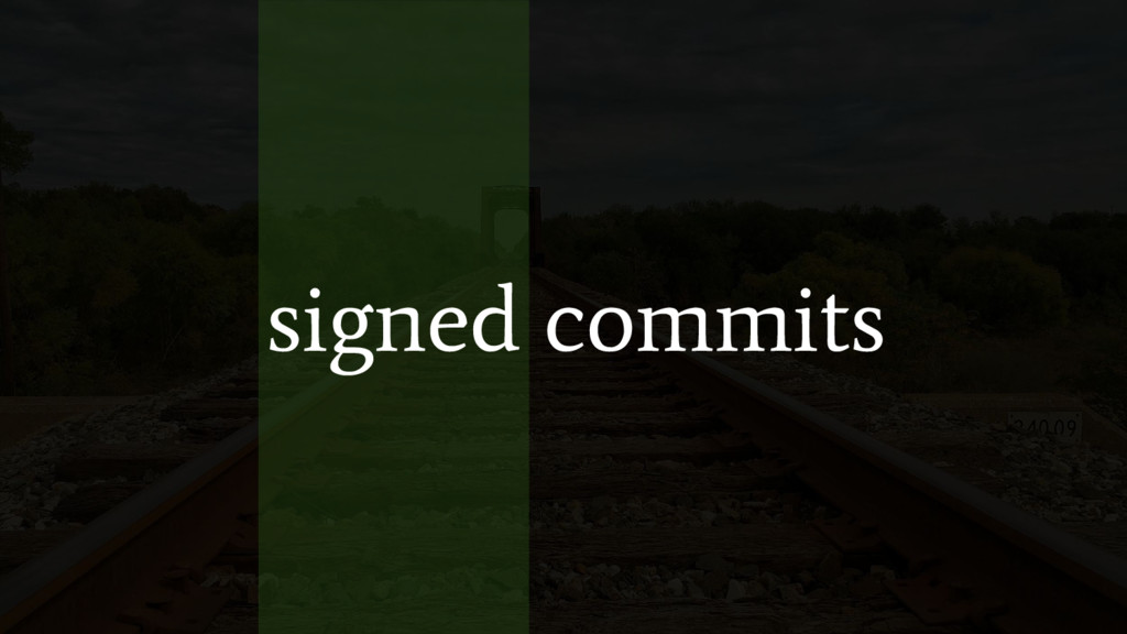signed commits