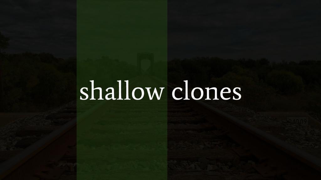 shallow clones