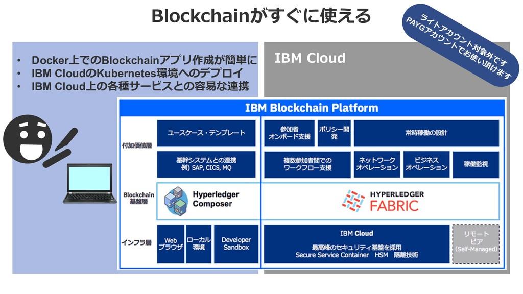Blockchainがすぐに使える IBM Cloud • Docker上でのBlockcha...