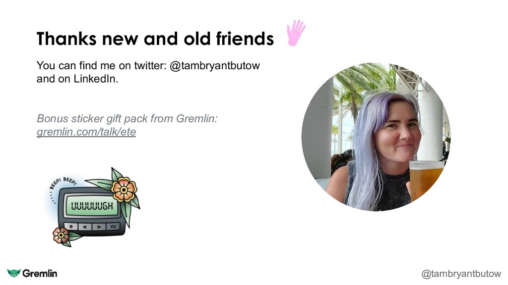 Thanks new and old friends @tambryantbutow You ...