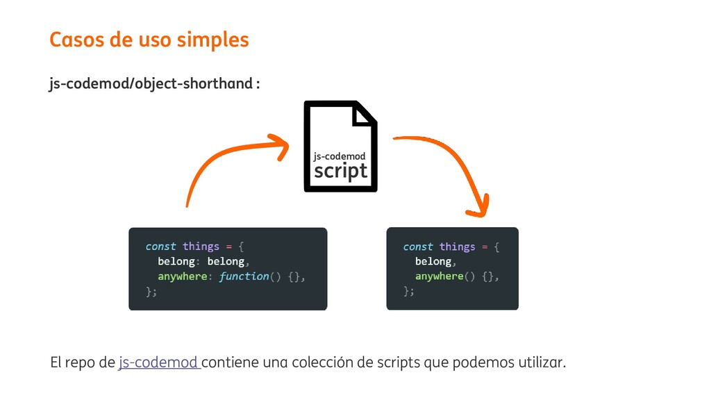 js-codemod/object-shorthand : Casos de uso simp...