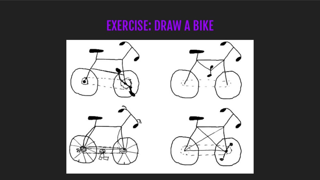 EXERCISE: DRAW A BIKE