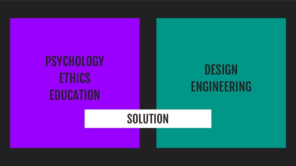 PSYCHOLOGY ETHICS EDUCATION DESIGN ENGINEERING ...