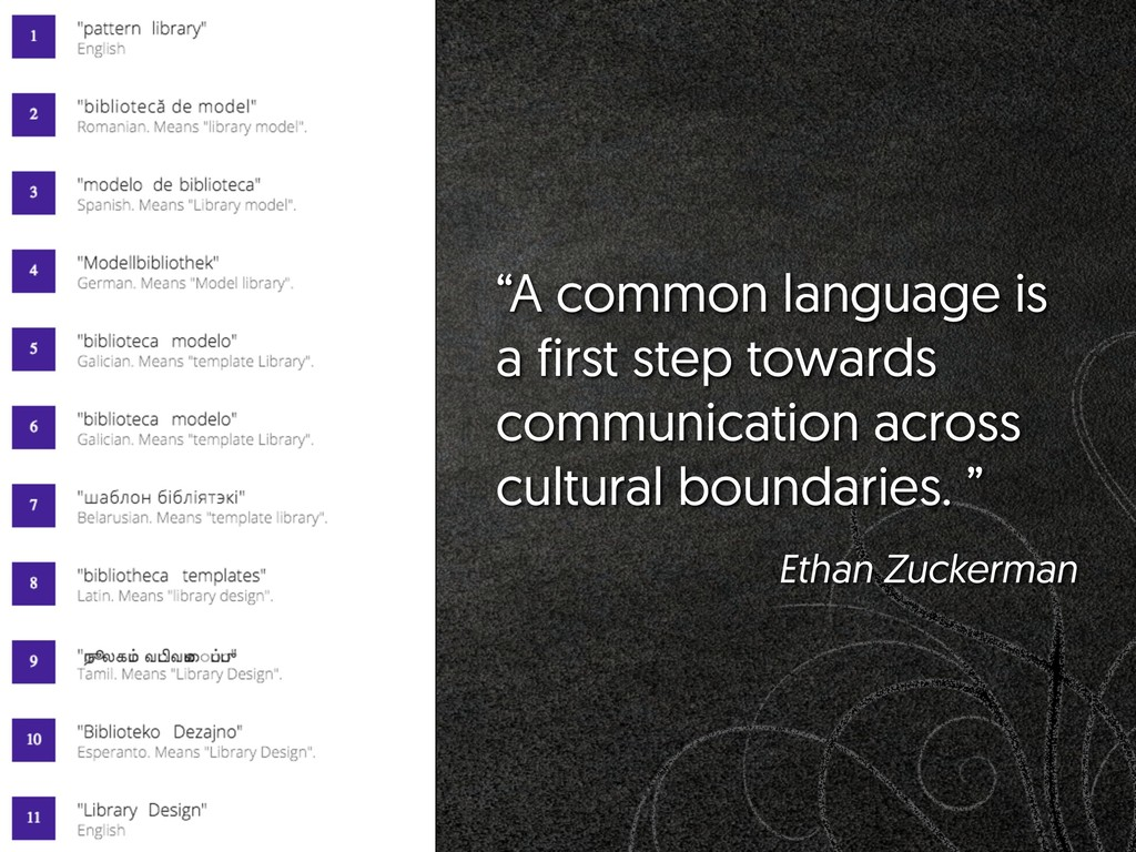 """A common language is a first step towards comm..."