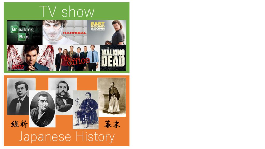 TV show Japanese History 幕末 維新