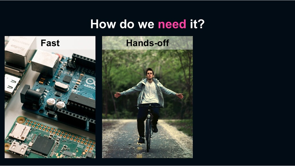 How do we need it? Fast Hands-off