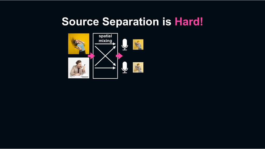 Source Separation is Hard! spatial mixing