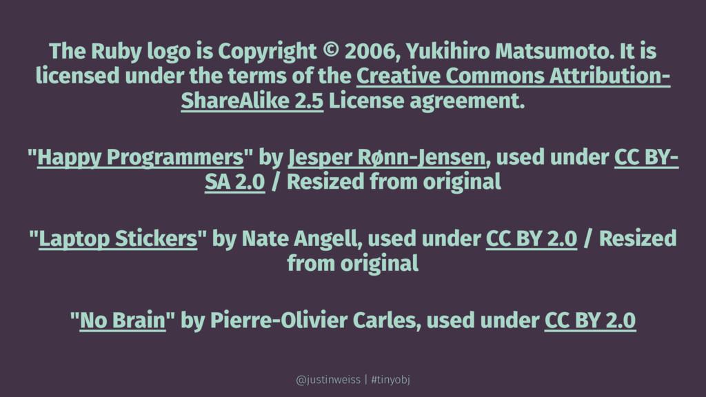 The Ruby logo is Copyright © 2006, Yukihiro Mat...
