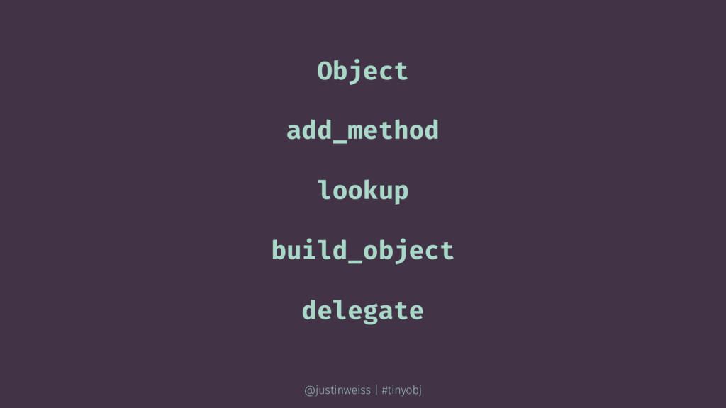 Object add_method lookup build_object delegate ...