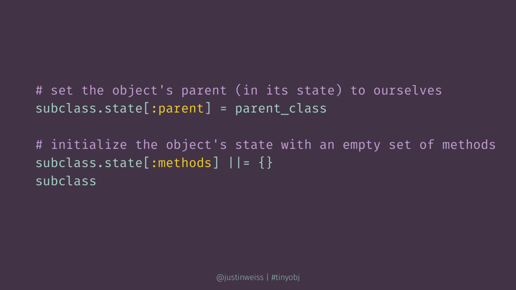 # set the object's parent (in its state) to our...