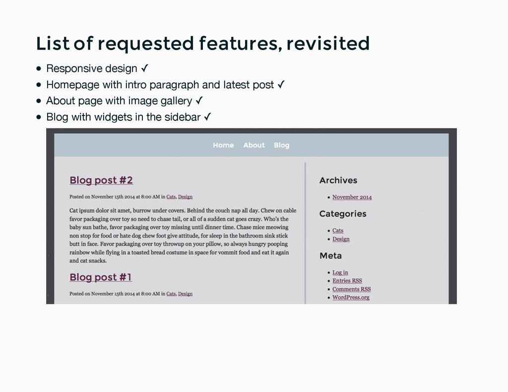 List of requested features, revisited List of r...