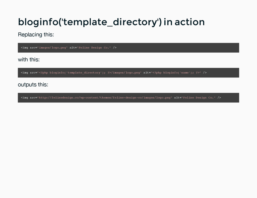 bloginfo('template_directory') in action blogin...