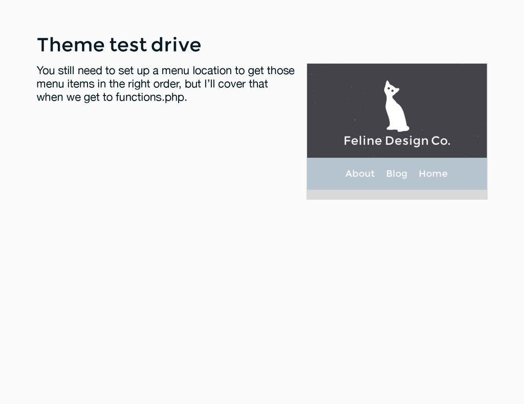 Theme test drive Theme test drive You still nee...