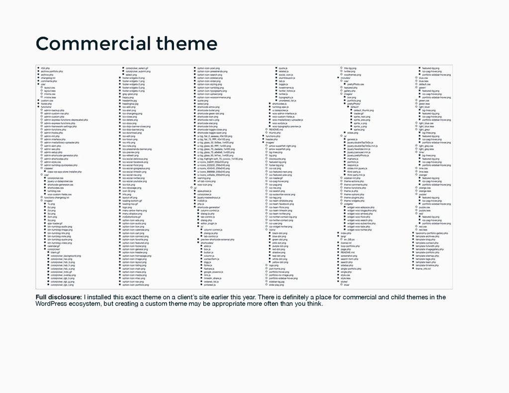 Commercial theme Commercial theme Full disclosu...