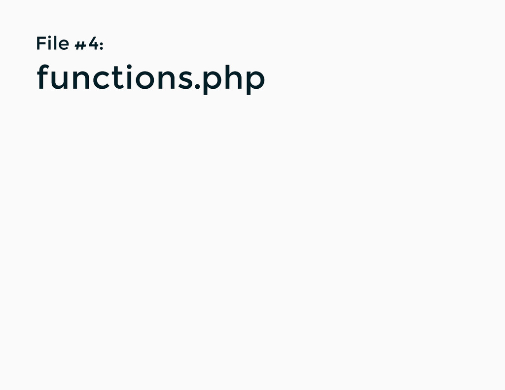 File #4: File #4: functions.php functions.php