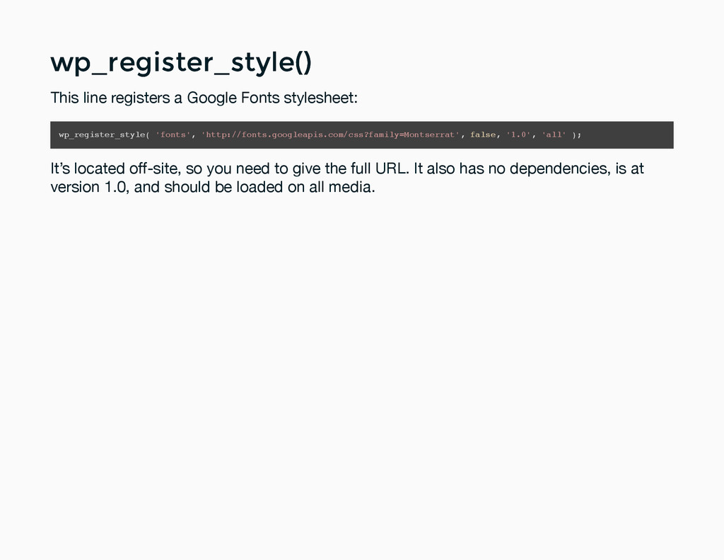 wp_register_style() wp_register_style() This li...