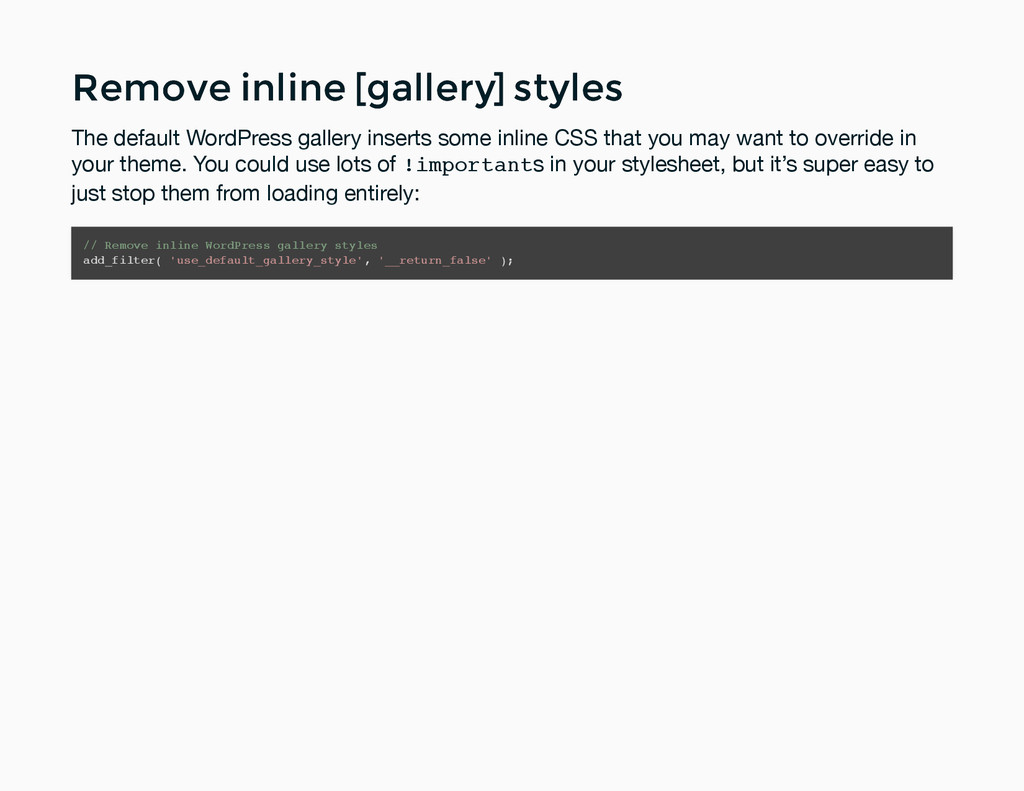 Remove inline [gallery] styles Remove inline [g...