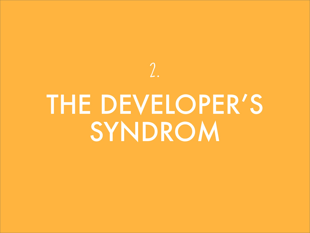 THE DEVELOPER'S SYNDROM 2.
