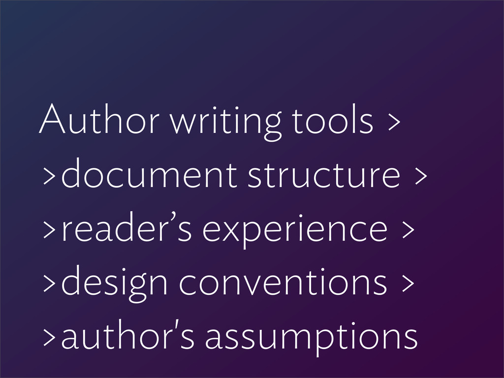 Author writing tools > >document structure > >r...