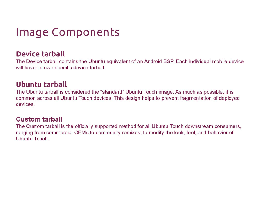 Image Components Device tarball The Device tarb...