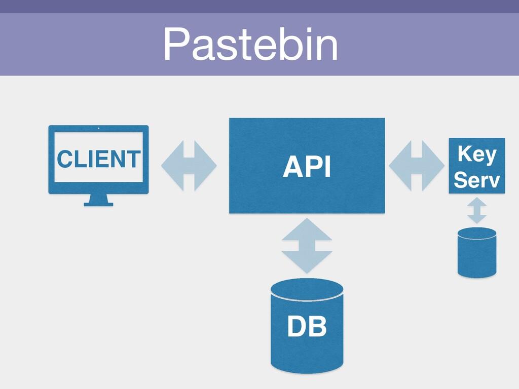 Pastebin CLIENT API Key Serv DB