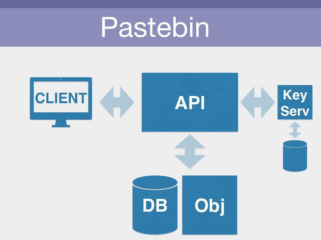 Pastebin CLIENT API Obj DB Key Serv